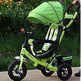HJXJXJX tricycle tricycle pliant enfants, chariot,Multi-couleur en option,