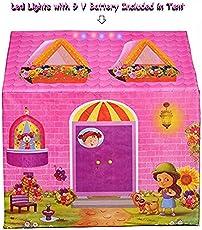 Playhood Kids Tent House with Coloured LED Lights Inside