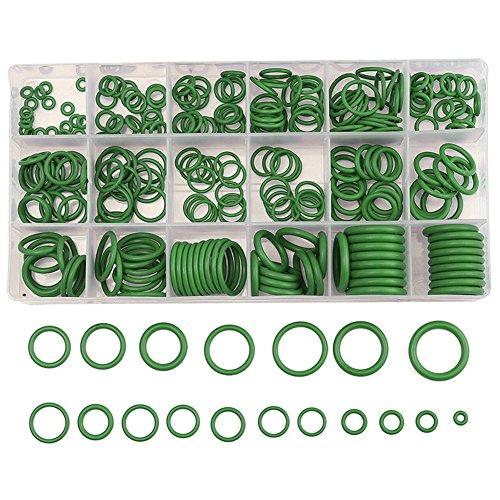 Für Kfz-Klimaanlagen-Handwerkzeug-Kit, 270PC grüner O-Ring/Dichtung/Unterlegscheibe