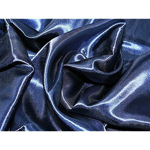 1 Metre Plain azul marino Tela de raso, (azul marino) poliéster Material raso - sin color