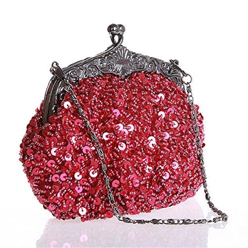 Flada Girls And Womens Handbags Handmade In Rilievo Di Sera Frizioni Prom Wedding Party Green Red