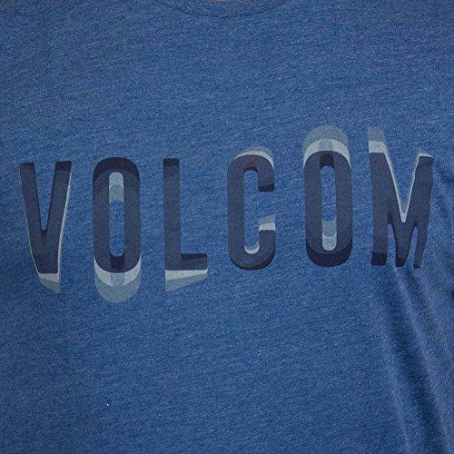 Volcom T-Shirt Warble smoke blau Blau