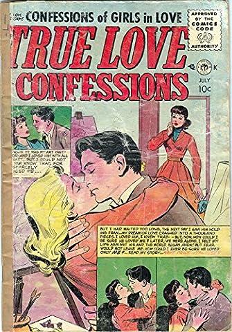 POSTER comics cover Small Publishers Premier Magazines True Love Confessions 8 Vintage Wall Art Print A3 replica