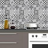 Carreaux de ciment adhésif mural - azulejos - 20 x 20 cm -60 pièces
