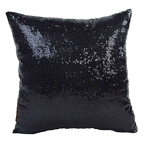 Xmiral Kissenbezüge Solid Color Glitter Pailletten Cafe Home Decor Sofakissen Pillowcase(40 x 40 ()