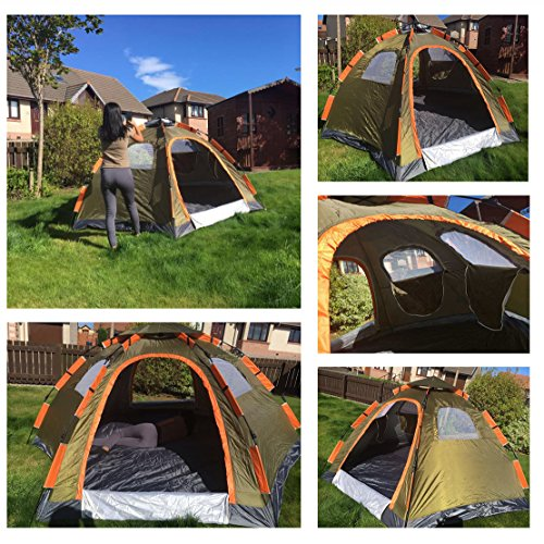 Wnnideo Instant Dome 5 Five Person Tent & Wnnideo Instant Dome 5 Five Person Tent - UKsportsOutdoors