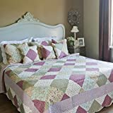 Clayre & Eef Tagesdecke Quilt Patchwork 140 x 220 cm Q132.059