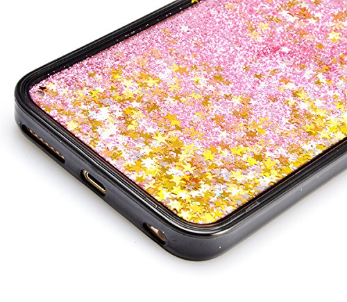 3D Kreative Liquid TPU Silikon Schutzhülle für iPhone 5/5S (4 zoll) Handyhülle Durchsichtig Rückseite Tasche Glitter Shiny Kristall Klar Handytasche Sparkle Dynamisch Treibsand Fließende Flüssigkeit G A02
