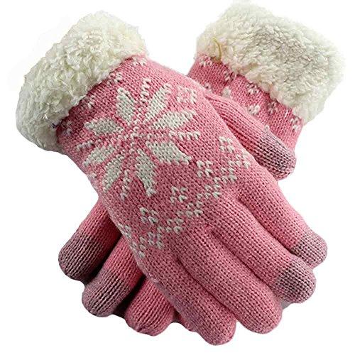 YunYoud Schneeflocke plus Samt Touchscreen Handschuhe outdoor trainingshandschuhe damenhandschuh sporthandschuhe laufhandschuhe sommerhandschuhe kurze baumwollhandschuhe