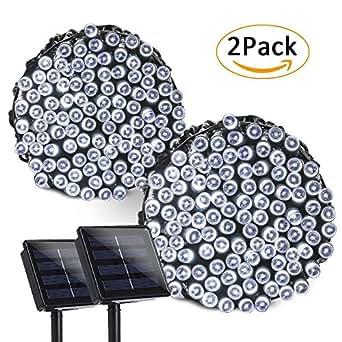 ledertek solar lichterkette weihnachten 22m 200er led 8 modi 2 st ck wasserdichte. Black Bedroom Furniture Sets. Home Design Ideas