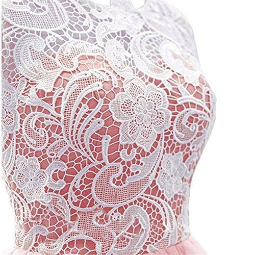 Drasawee Femme Lovely Dentelle Mousseline de soie Prom Party Robe de demoiselle d'honneur sexy Perspective Maxi robes de soirée 12#