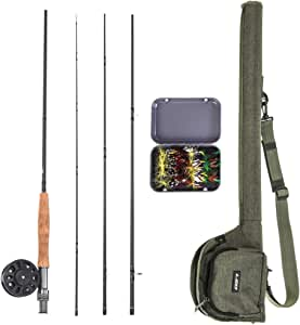 Explopur Fly Fishing Rod + Fishing Reel Combo + Carry Box 20