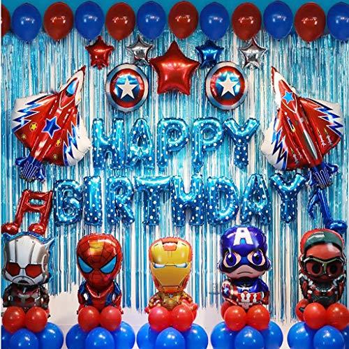 Vineyard Cumpleaños Decoración del Partido Hijos Tema De La Fiesta De Superhéroes Globo De Cumpleaños Bebé Fondo De La Decoración del Partido (Color : B )