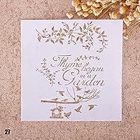 Zhuotop Plantilla de dibujos para imprimir con aerógrafo, para bricolaje, álbum de recortes, decoración, 27, 02#