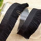 Nicole Diary Trim Ribbon Trenza Franja Borla Costura Decoraciones para el hogar Disfraces 10 Yards Black