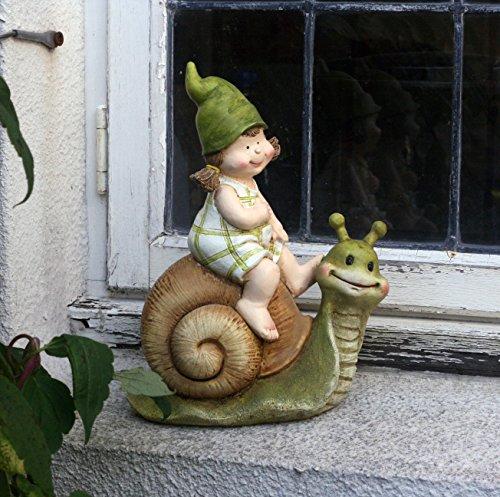 Adorno de jardín, gnomo, hada del jardín, Troll, Rebecca