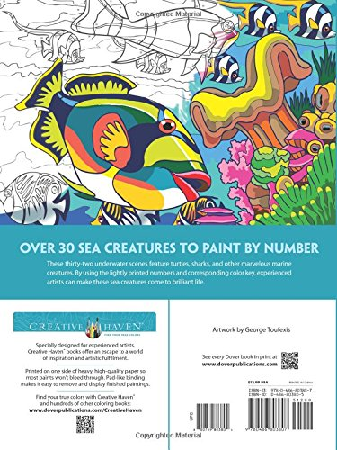 Creative Haven Sea Life Paint by Number (Creative Haven Coloring Books)