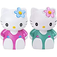 JOY STORIES® Hello Kitty Money Saving Bank, Coin Holder, Piggy Bank for Kids - Set of 2 (Pink & Green)