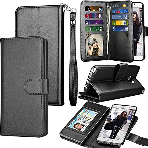 Spritech LG Fortune/LG Phoenix 3 Case,LG Aristo/Risio 2 Wallet Case,LG  Rebel 2 LTE / LV3 PU Leather Case, Credit Card Slots Carrying Folio Flip  Cover