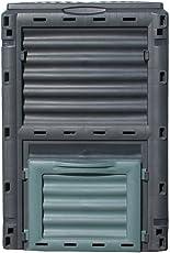 Dehner Gute Wahl Thermo Komposter 300 Liter, ca. 80 x 65 x 65 cm, Kunststoff, schwarz/grün