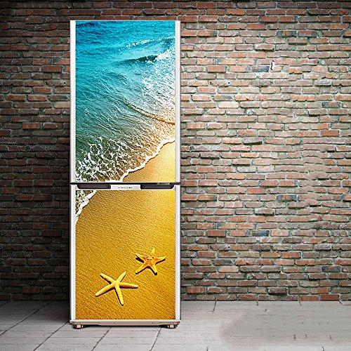 Angle&H 3D Puerta Refrigerador Pegatinas Pasillo Mural