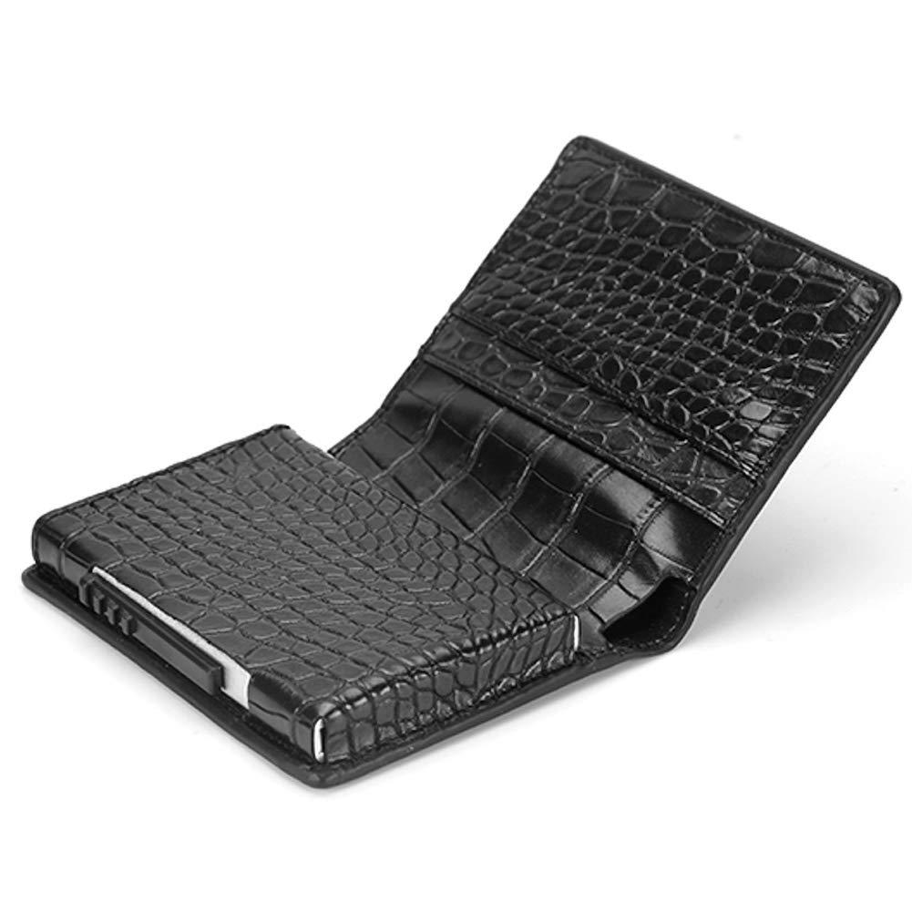 4c1a92d8e457 Koogoo Pop-up Automatique étui Carte de crédit avec RFID Protection et Pop  Up Carte Cash Nox Fonction Étui pour 6 Cartes, Porte Carte pour Homme  Femme, ...