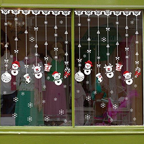 Natale Vetrofanie Rimovibile Adesivi Murali Fai Da Te Finestra