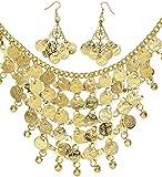 WIDMANN juego de Collar y pendientes de monedas Adulto para mujer, Oro, 24372