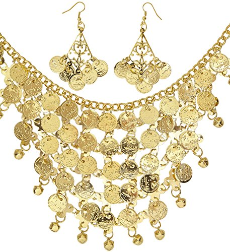WIDMANN Set Kette und Ohrringe für Erwachsene, Damen, Goldfarben, ()
