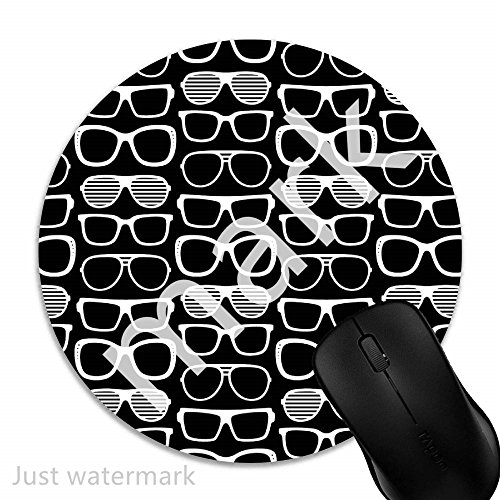 Maus-Pad Sonnenbrillen,7 inch rund Mouse-Pad mit rutschfester Unterlage Standard 1V2363