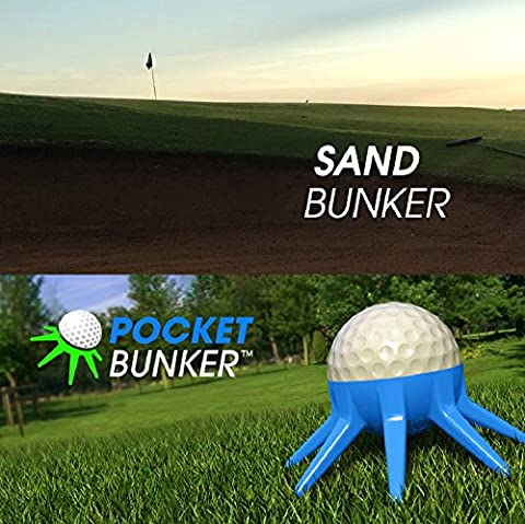 POCKET BUNKER (1 Unit): A Golf Swing Training Tool to Practice Hitting Out of Sand to Get You Putting on the Green Faster. Perfect Your Short Game by Training Like the Pros!