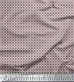 Soimoi Rosa Seide Stoff künstlerisch geometrisch gedruckt