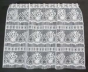 Rideau brise bise blanc largeur 90 cm hauteur réglable peut tous les 19 cm