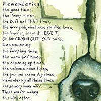 Loss of a Pet DOG Condolence Sympathy Card - Remembering the Good Times