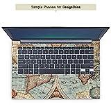 mySN XMG P502 Pro Aufkleber Schutz Folie Design Sticker Skin Vintage Weltkarte Karte Map