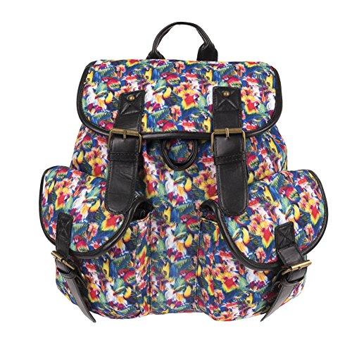 Karen Daypacks Casual Segeltuch Canvas Blumen Schöne Vintage webliche Rucksack Schulranzen Freizeitrucksack Tasche Rucksäcke #8