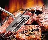 BUVTEC Barbuzzo BBQ Grill Brandeisen Brandmarken mit wechselbaren Buchstaben ideales Geschenk zum Grillbuch für Männer