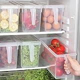 Food Storage Boxes With Lids Freezer Safe Volwco 3 Pcs 4.7L Large Plastic Kitchen Refrigerator Stackable Food Fruit Storage C