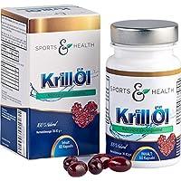 Omega 3 Krillöl Fettsäuren - 60 Hochdosierte Kapseln - 1500mg KrillÖl Tagesdosierung durch 3 Kapseln am Tag - EPA DHA - Gesund fürs Herz - Mit Astaxanthin