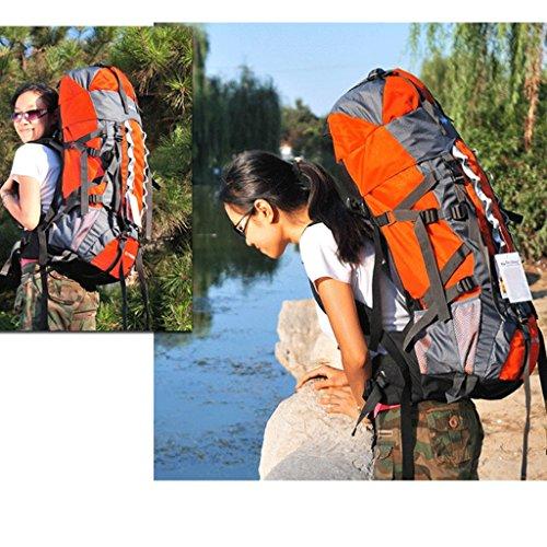 80 + 20L gro?e Kapazit?t im Freien Bergtaschen Reise Rucksack Camping Rucksack Orange