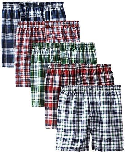 KRYPTAR Boxer Men's Sports Cotton Shorts (Pack of 5_L, Multicolour)