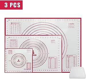 Atropos Silicone Baking Mats Non Stick 3 Sizes 80 X 60 Cm 60 X 40 Cm 26 X 29 Cm Küche Haushalt