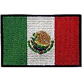 Bandera de México Parche Bordado de Aplicación con Plancha