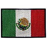 EmbTao Bandiera del Messico Termoadesiva Cucibile Ricamata Toppa