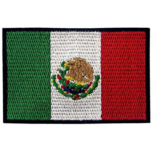 Bandera México Parche Bordado Aplicación Plancha