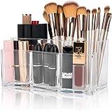 Organizador de Cosméticos Organizador de Maquillaje Caja para Cosméticos, Organizador de Maquillaje con 6 Compartimentos para