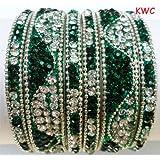 Tyagi Craft Indian Bollywood Wedding Fancy Bangles Asian Crystal Jewellery Bracelets