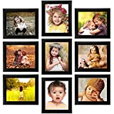 Beautiful Set Of Photo Frames | Classic Set Of 9 Individual Photo Frames | 9-8x10 Inch |Black |Home Décor |Wall Unit | Unique Design - By Printelligent