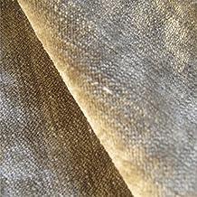 Tabley 'cappuccino signicase': terciopelo marrón tapicería de sofá cojín tela retardante de llama Material de telas Loome, Tabley 'Cappuccino Plain' : Brown, 10 x 14 cm sample