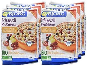 Bjorg Muesli aux Protéines Soja Bio 375 g - Lot de 6